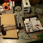 Lasercutter Testaufbau